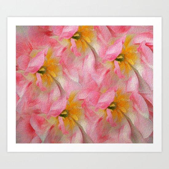 Fancy Painted Tulips Art Print