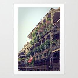 French Quarter Balconies - Royal Street Art Print