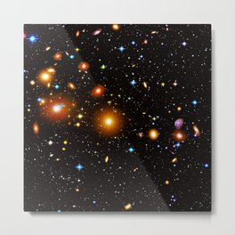 Galaxies, nebulas, planets, and stars in the universe Metal Print