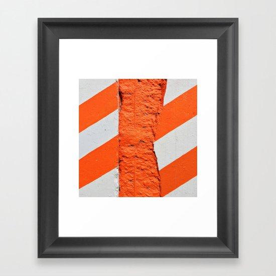 Fruit Stripe Framed Art Print