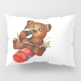 A little bear having a picnic lunch Pillow Sham