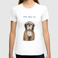 shih tzu T-shirts featuring Shih Tzu by Katherine Coulton