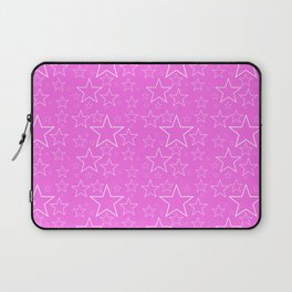 White and Pink Stars Laptop Sleeve