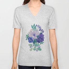 violet Unisex V-Neck