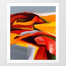 The Present Abstract Landscape Art Print