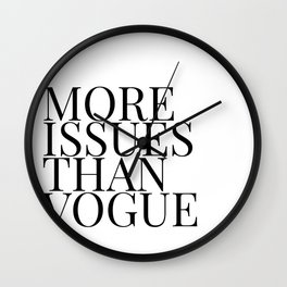 more issues Wall Clock