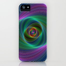 Psychedelic Spiral Stripes iPhone Case