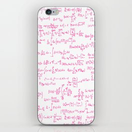Pink Math Equations iPhone Skin