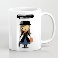 mary poppins Mugs featuring Mary Poppins by oyoyoi