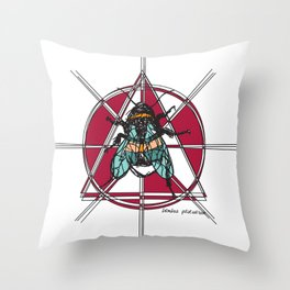 Bombus Pascuorum Throw Pillow