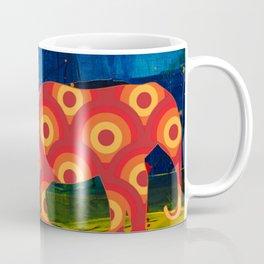 Two Elephants in a Forest Coffee Mug