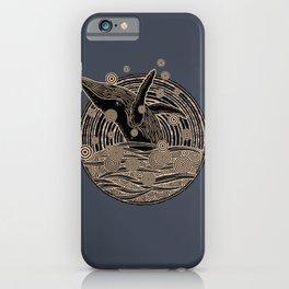 Golden Whale Breach iPhone Case
