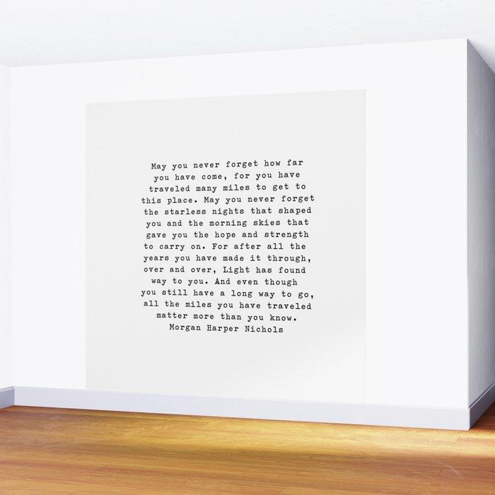 Typewriter Style Quote ((Morgan Harper Nichols)) Wall Mural