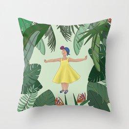Jungle rhythms Throw Pillow