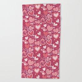 Lovely hearts Beach Towel