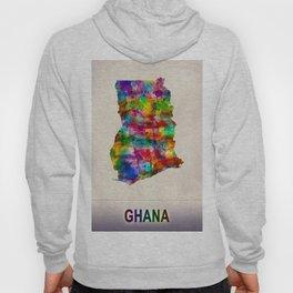 Ghana Map in Watercolor Hoody