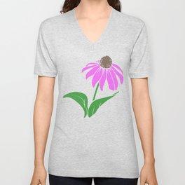 Floral Design Coneflower Cone Flower Unisex V-Neck