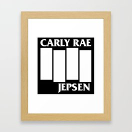 CRJ Flag (white) Framed Art Print