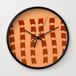 Painted by suncream ... Wall Clock