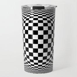 Optical Illusion Checkers Chequeres  Travel Mug