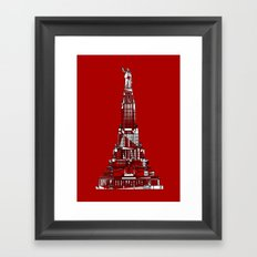 Palace of the Soviets for the 2013 Soyuz Symposium Framed Art Print