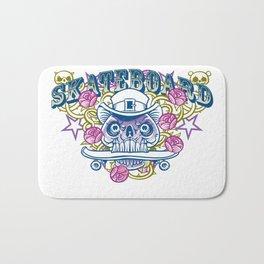 Skateboard print Bath Mat