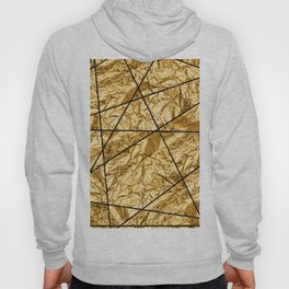 Shiny yellow gold with marble Hoody