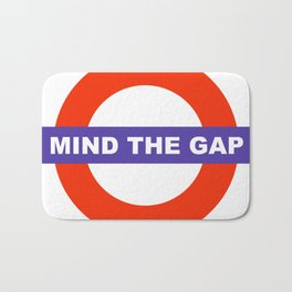 Mind The Gap Logo Bath Mat
