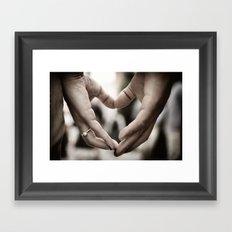 Touching Sentiment Framed Art Print