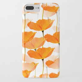 Orange Poppies On A White Background #decor #society6 #buyart iPhone Case