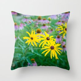 Wildflowers at Dusk Throw Pillow