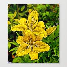 Fractal Lily Canvas Print