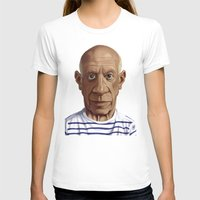 pablo picasso T-shirts featuring Celebrity Sunday ~ Pablo Picasso by rob art | illustration