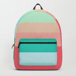 7 Colorful Retro Summer Stripes Airesekui Backpack