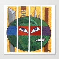 teenage mutant ninja turtles Canvas Prints featuring Teenage Mutant Ninja Turtles by UBIQUITOUS