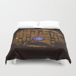 GOLD RUINS WITH GEM Duvet Cover