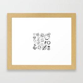Handmade with love! Framed Art Print