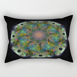 Fractal Flower in Green Rectangular Pillow