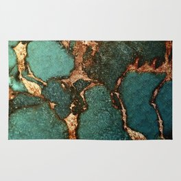 EMERALD AND GOLD Rug