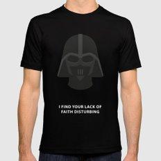 Star Wars Minimalism - Darth Vader Black Mens Fitted Tee MEDIUM