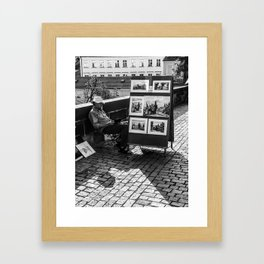 Resting Man With Sun Hat Framed Art Print