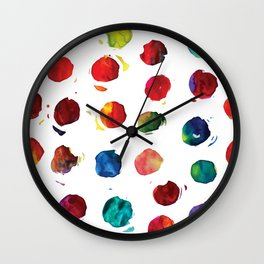 Abstract watercolor circles Wall Clock