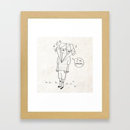 Diamond Boy Framed Art Print