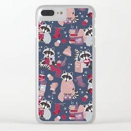 Hygge raccoon Clear iPhone Case