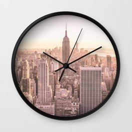 NEW YORK CITY SUNSET Wall Clock