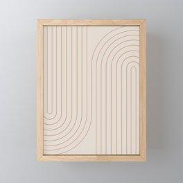 Minimal Line Curvature - Natural Framed Mini Art Print