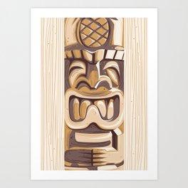 Happy Tiki Art Print
