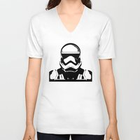 trooper V-neck T-shirts featuring Trooper  by Rabassa