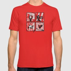 Elements of Hip Hop Red Mens Fitted Tee MEDIUM