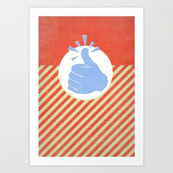 Thumbs Up! Art Print